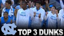 UNC's Top 3 Dunks Against Notre Dame