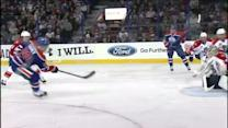 Nail Yakupov sets up Sam Gagner for goal