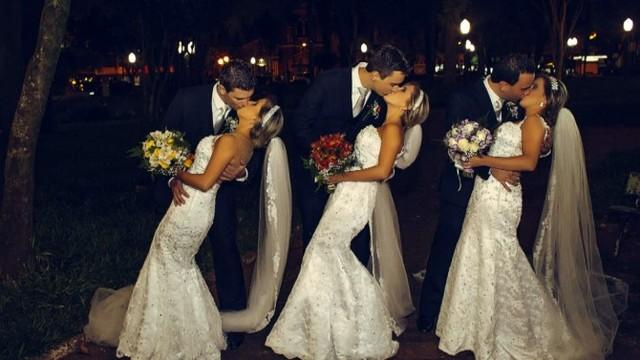 Identical Triplets Got Married In A Joint Wedding Ceremony. Lovely!!