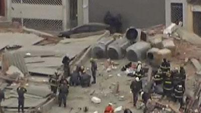 Raw: At Least 6 Dead in Brazil Building Collapse