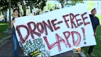Anti-Drone Activists Warn Of LAPD 'Mission Creep' At Downtown Rally