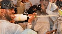 LeBron and Heat Champagne Celebration