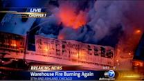 Giant Bridgeport warehouse fire reignites