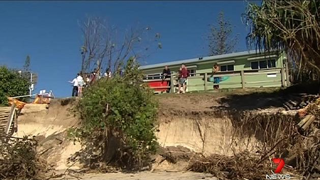 Beaches hit by high tides