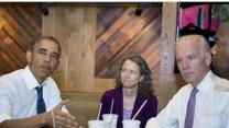 Obama Eats Out, Pushing Infrastructure & Jobs