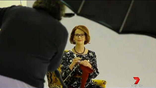 Gillard's knitting photo to lure women