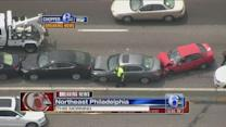 10 cars involved in chain-reaction I-95 crash