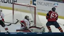 Panthers tally twice in 23 seconds on Lehner
