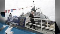 United States Breaking News: Chuck Hagel Tours USS Freedom, New Navy Combat Vessel