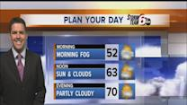 Monday's Forecast: Warm temps, partly cloudy skies