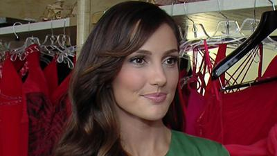 Minka Kelly Gears Up For The Red Dress Fashion Show