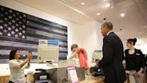 Obama Stops at Gap to Pitch for Minimum Wage Increase