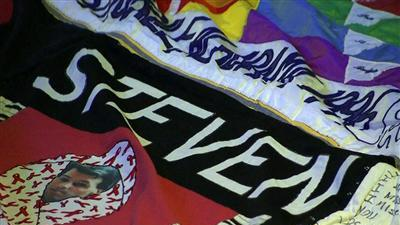 AIDS quilt hung in National Cathedral