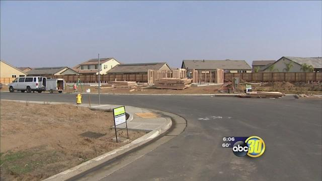 New homes under construction in Clovis