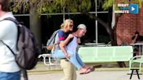 Guys Decide to 'Pick Up Chicks' Literally by Offering Piggy Back Rides on Campus