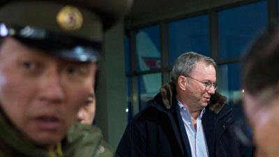 Google Executive Chairman Arrives in North Korea