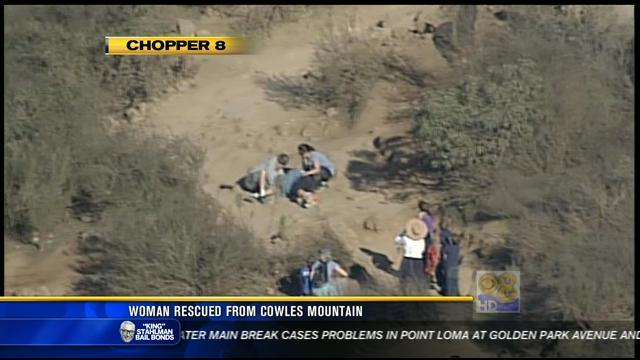 Woman rescued from Cowles Mountain