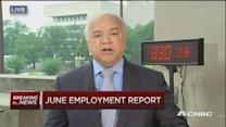 June private sector payrolls up 223,000;  jobless rate 5....