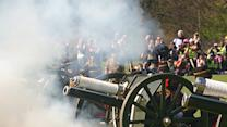 Raw: Cannons Mark Queen Elizabeth's Birthday
