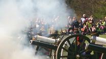 Raw: Cannons Mark Queen Elizabeth's Birthday