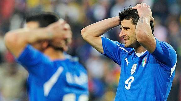 Defending Champion Italy Eliminated