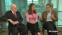 Buffett, Bill and Melinda Gates on biggest accomplishment...