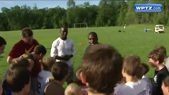 McCourty Twins educate and entertain in football clinic