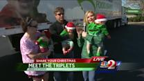 Martha Sugalski's triplets make appearance at Share Your Christmas