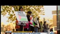 Protesters rally in Detroit against violence in Gaza