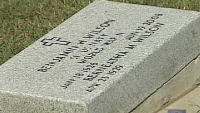 World War II Vet's Grave Placed In Wrong Spot Twice