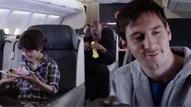 Kobe Bryant and Lionel Messi comical commercial