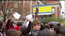 Students protest firing of several popular teachers