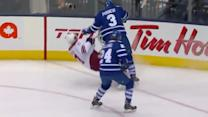 Dion Phaneuf shoulders Martin Hanzal