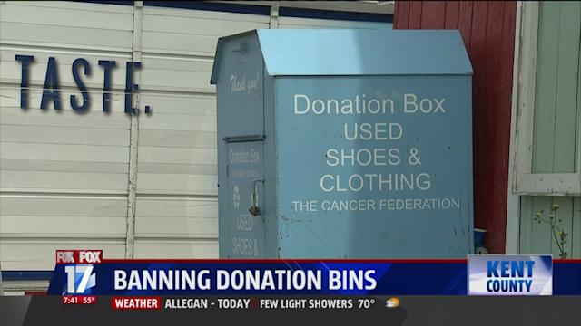 City Bans Donation Bins