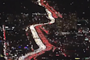 Astonishing aerial footage shows bumper to bumper traffic as LA travellers set off for Thanksgiving