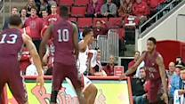 NCCU players celebrate big win over NCSU