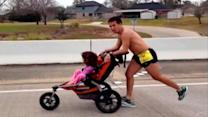 Dad With Brain Cancer Pushes Daughter to Marathon Victory