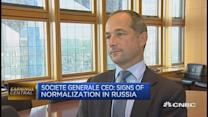 Russia showing signs of normalization: SocGen CEO