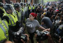 Tense confrontation amid peaceful vigils in Charlottesville