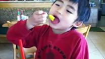 Cute Reaction To Spicy Yellow Pepper