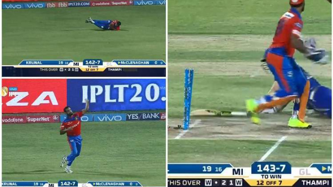 5 crucial death-over fielding efforts from Gujarat Lions against Mumbai Indians