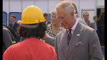 Prince Charles watches Red Arrows flypast