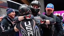 American bobsledder's unforgettable winning moment