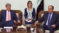 US Secretary of State John Kerry Arrives in Baghdad, Iraq