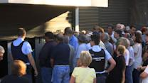 Raw: Long Lines Outside Closed Greek Banks