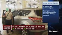 Fiat Chrysler June US sales up 8.2%