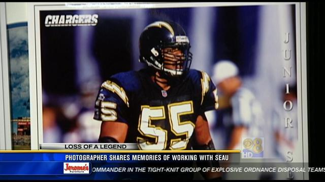 Photographer shares memories of working with Junior Seau