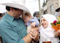 Justin Trudeau meets Syrian baby named after him