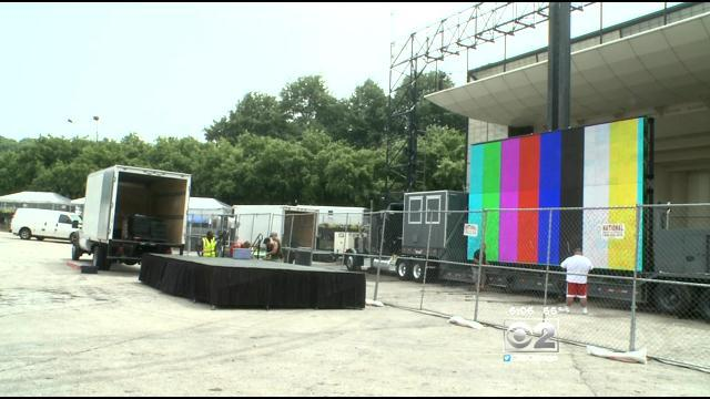 Grant Park Gets Ready For World Cup Viewing Party