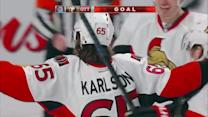 Karlsson rifles power-play blast behind Price